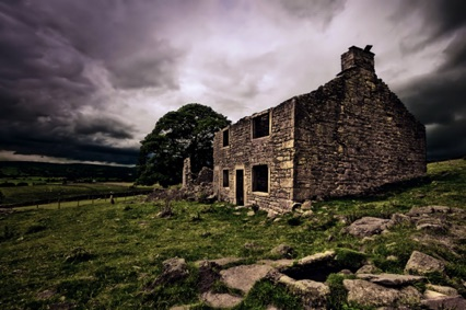 "The derelict ""Wise House"" between Hebden and Grassington"
